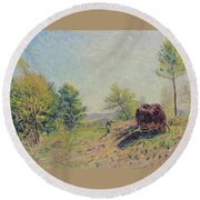 The Edge Of The Forest Round Beach Towel