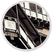 The Elevated Station At 125th Street 2 Round Beach Towel