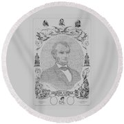 The Emancipation Proclamation Round Beach Towel