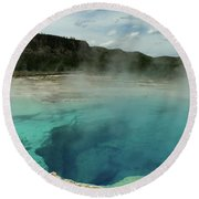 The Emerald Pool Colors Round Beach Towel