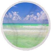 The Emerald Shore Of Destin, Fl Round Beach Towel
