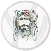 The Emotions Of Jesus Round Beach Towel