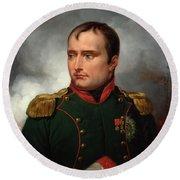The Emperor Napoleon I Round Beach Towel