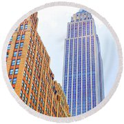 The Empire State Building 4 Round Beach Towel