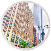The Empire State Building 6 Round Beach Towel