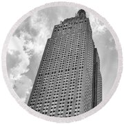 The Empire State Building 7 Round Beach Towel