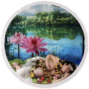The Empress Round Beach Towel