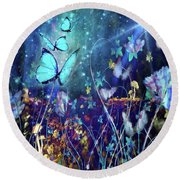 The Enchanted Garden Round Beach Towel