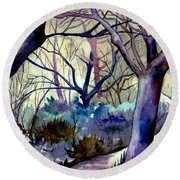 The Enchanted Path Round Beach Towel