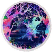 The Enchanted Wood Round Beach Towel