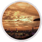 The End Of A Beautiful Day Round Beach Towel