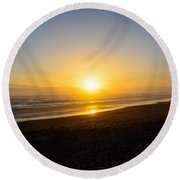 The End Of Days Round Beach Towel