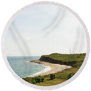 The End Of Long Island South 1 Round Beach Towel