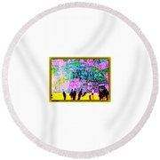 The Energy Field Of The Human Psyche Round Beach Towel