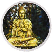 The Enlightened One Round Beach Towel
