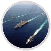 The Enterprise Carrier Strike Group Round Beach Towel