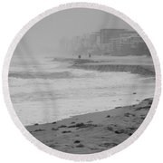 The Eroded Coast Round Beach Towel