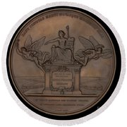The Establishment Of The French Railway System: The Law Of 11 June 1842 [reverse] Round Beach Towel