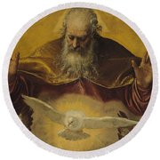 The Eternal Father Round Beach Towel by Paolo Caliari Veronese