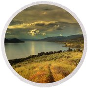 The Evening Calm Round Beach Towel