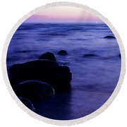 The Evening Round Beach Towel