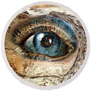 The Eye Of Nature 1 Round Beach Towel