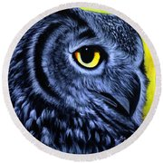 The Eye Of The Owl -the  Goobe Series Round Beach Towel