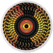 The Eye Of The Storm- Round Beach Towel