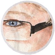 The Eyes Have It - Donna Round Beach Towel