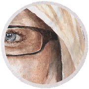 The Eyes Have It - Dustie Round Beach Towel