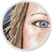 The Eyes Have It - Jill Round Beach Towel