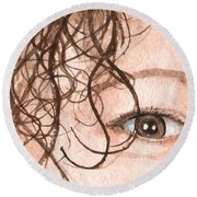 The Eyes Have It - Stacia Round Beach Towel