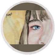 The Eyes Have It - Bryanna Round Beach Towel