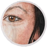 The Eyes Have It- Jessica Round Beach Towel