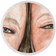 The Eyes Have It- K And K Round Beach Towel