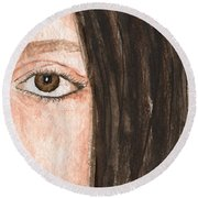 The Eyes Have It- Katelyn Round Beach Towel