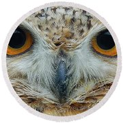 The Eyes Have It Round Beach Towel