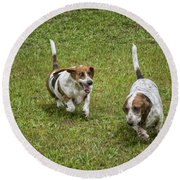 Funny Face Round Beach Towel