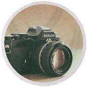 The Fabulous Nikon Round Beach Towel