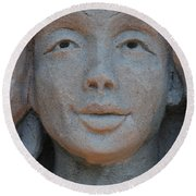 The Face Round Beach Towel