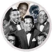 The Faces Of Motown Round Beach Towel