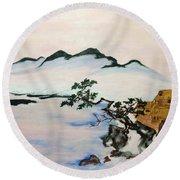 The Fading Spirit Of Chikanobu Awakened By Shintoism Round Beach Towel