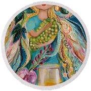 The Fairies Of Wine Series - Chardonnay Round Beach Towel