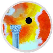 The Fall Of Rome Round Beach Towel