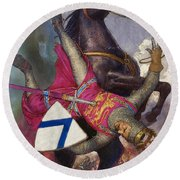 The Fall Of William The Conqueror Round Beach Towel