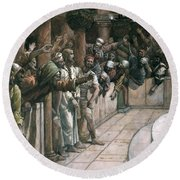 The False Witness Round Beach Towel by Tissot