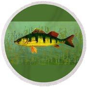 The Fanciful Limon Barb Round Beach Towel