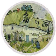 The Farm In Summer Round Beach Towel