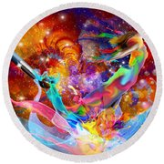 The Fathers Paint Brush Round Beach Towel