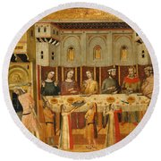 The Feast Of Herod And The Beheading Of The Baptist Round Beach Towel
